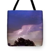 County Line Northern Colorado Lightning Storm Tote Bag by James BO  Insogna