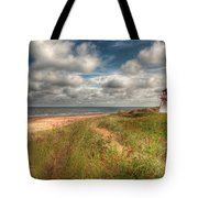 Covehead Lighthouse Tote Bag by Elisabeth Van Eyken