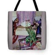 Cozy Kitty Tote Bag by Cynthia Pride