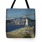 Crater Lake - A Most Sacred Place Among The Indians Of Southern Oregon Tote Bag by Christine Till