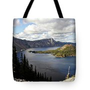 Crater Lake - Intense Blue Waters And Spectacular Views Tote Bag by Christine Till