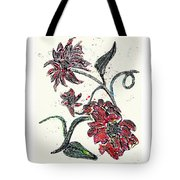 Crayon Flowers Tote Bag by Sarah Loft