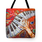 Crazy Fingers - Piano Keyboard  Tote Bag by Sue Duda