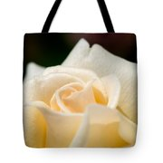 Cream Rose Kisses Tote Bag by Lisa Knechtel