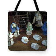 Creche Shepards And Sheep Tote Bag by Nancy Griswold