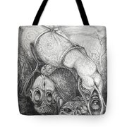 Ctulhu Seedpods Tote Bag by Otto Rapp