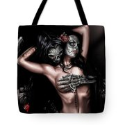 Cure my Tragedy Tote Bag by Pete Tapang