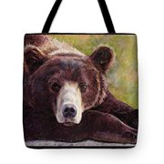 Da Bear Tote Bag by Billie Colson