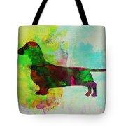 Dachshund Watercolor Tote Bag by Naxart Studio