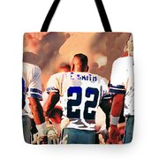Dallas Cowboys Triplets Tote Bag by Paul Van Scott