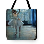 Dancer In Front Of A Window Tote Bag by Edgar Degas