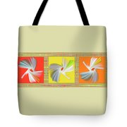 Dancing Flower Trio Tote Bag by Ben and Raisa Gertsberg