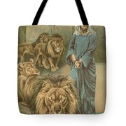 Daniel In The Lions Den Tote Bag by John Lawson