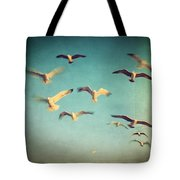 Dans Avec Les Oiseaux Tote Bag by Taylan Apukovska