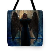 Dark Angel At Church Doors Tote Bag by Jill Battaglia