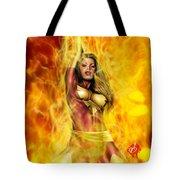 Dark Phoenix Tote Bag by Pete Tapang