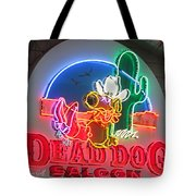 Dead Dog Saloon Tote Bag by Suzanne Gaff