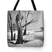 Dead Of Winter Tote Bag by Steve Harrington