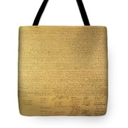 Declaration Of Independence Tote Bag by American School