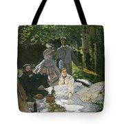 Dejeuner Sur Lherbe Tote Bag by Claude Monet