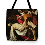 Deposition Tote Bag by Michelangelo Merisi da Caravaggio