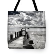 Derelict Wharf Tote Bag by Avalon Fine Art Photography