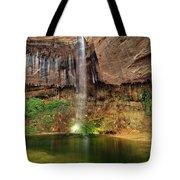 Desert Waterfall Oasis Tote Bag by Leland D Howard