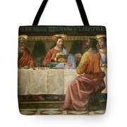 Detail From The Last Supper Tote Bag by Domenico Ghirlandaio