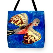 Detail Of Bird People Flying Chaffinch  Tote Bag by Sushila Burgess
