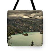 Diablo Lake - Le Grand Seigneur Of North Cascades National Park Wa Usa Tote Bag by Christine Till