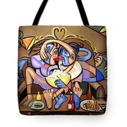 Dinner And A Movie Tote Bag by Anthony Falbo