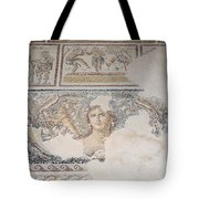 Dionysus Mosaic Mona Lisa Of The Galilee Tote Bag by Ilan Rosen