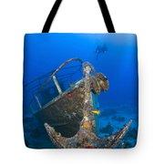Divers Visit The Pelicano Shipwreck Tote Bag by Karen Doody