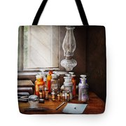 Doctor - The Doctor Is In Tote Bag by Mike Savad