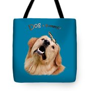 Dog And Butterfly Tote Bag by Christina Rollo