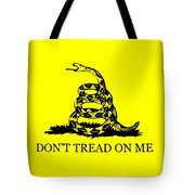Don't Tread On Me Flag Tote Bag by War Is Hell Store