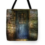 Door - A Rather Old Door Leading To Somewhere Tote Bag by Mike Savad