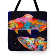 Dos Brown Trout Tote Bag by Tracy Miller