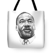 Dr. Martin Luther King Tote Bag by Murphy Elliott