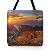 Dragon Dawn Mq1 Predator Tote Bag by Todd Krasovetz