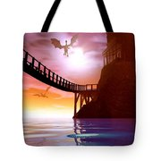 Dragon Manor Tote Bag by Cynthia Decker