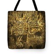 Dragon Pattern Tote Bag by Setsiri Silapasuwanchai