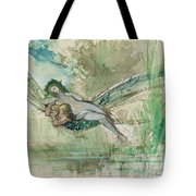 Dragonfly Tote Bag by Gustave Moreau