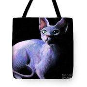 Dramatic Sphynx Cat Print Painting Tote Bag by Svetlana Novikova