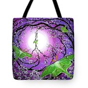 Drawn To The Light Tote Bag by Laura Iverson