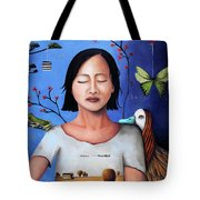 Dream Within A Dream 3 Tote Bag by Leah Saulnier The Painting Maniac