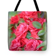 Dreamy Red Roses - Digital Art Tote Bag by Carol Groenen