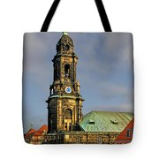 Dresden Kreuzkirche - Church Of The Holy Cross Tote Bag by Christine Till