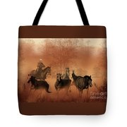 Driving The Herd Tote Bag by Corey Ford