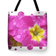 Drops Upon Raindrops 3 Tote Bag by Carol Groenen